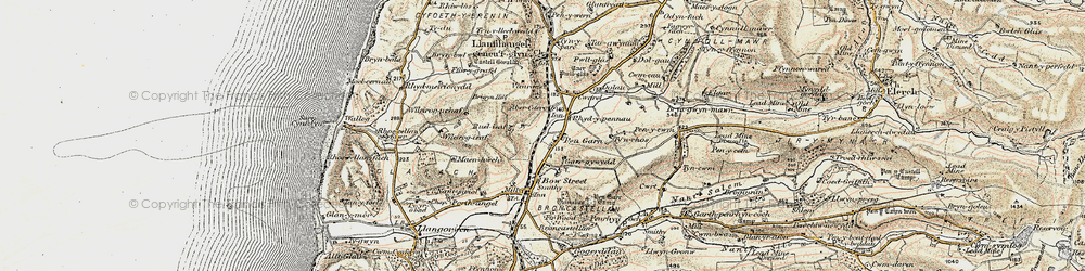 Old map of Wileirog in 1901-1903