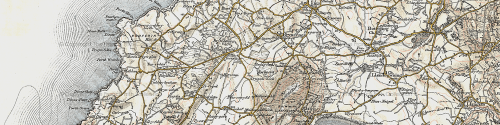 Old map of Tocia in 1903