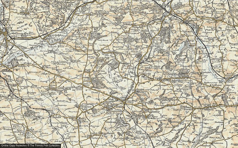 Old Map of Pen-y-lan, 1899-1900 in 1899-1900