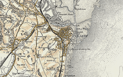 Old map of Penarth in 1899-1900