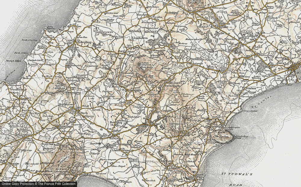 Old Map of Historic Map covering Afon Horon in 1903