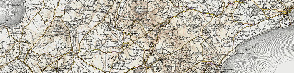 Old map of Afon Horon in 1903