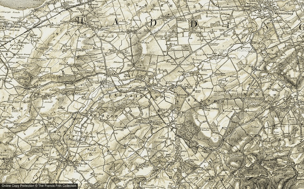 Old Map of Historic Map covering Lempock Wells in 1903-1904