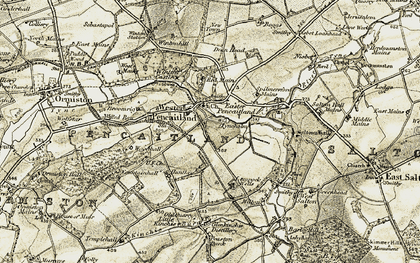 Old map of Winton Ho in 1903-1904