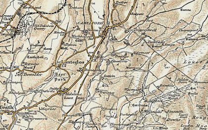 Old map of Pencarrow in 1900
