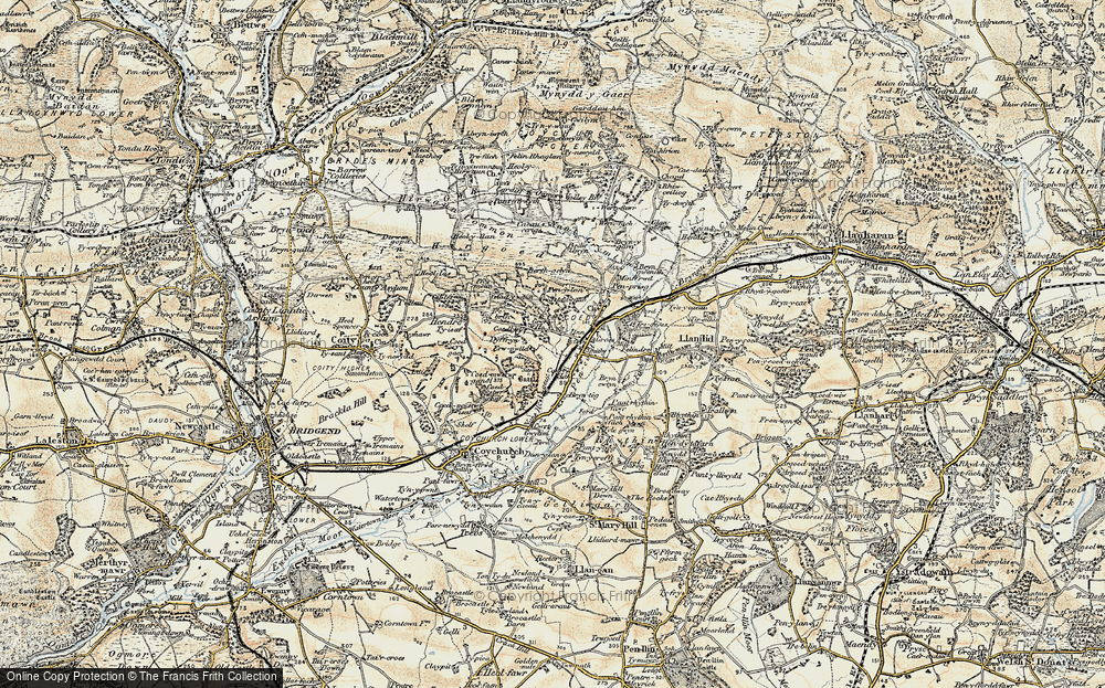 Old Map of Pencoed, 1899-1900 in 1899-1900