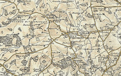 Old map of Winslow in 1899-1901