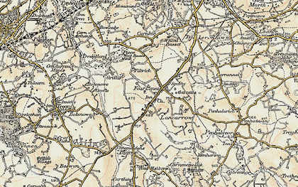 Old map of Pencoys in 1900