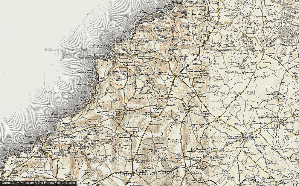 Map Of Uk 1900.Map Of Pencuke 1900 Francis Frith