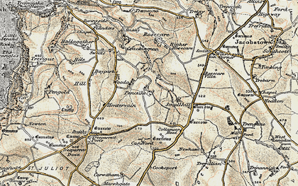 Old map of Pencuke in 1900