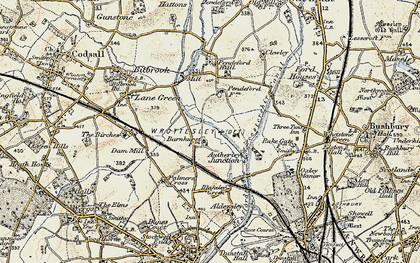 Old map of Autherley Junction in 1902