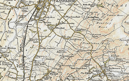 Old map of Wymondhouses in 1903-1904