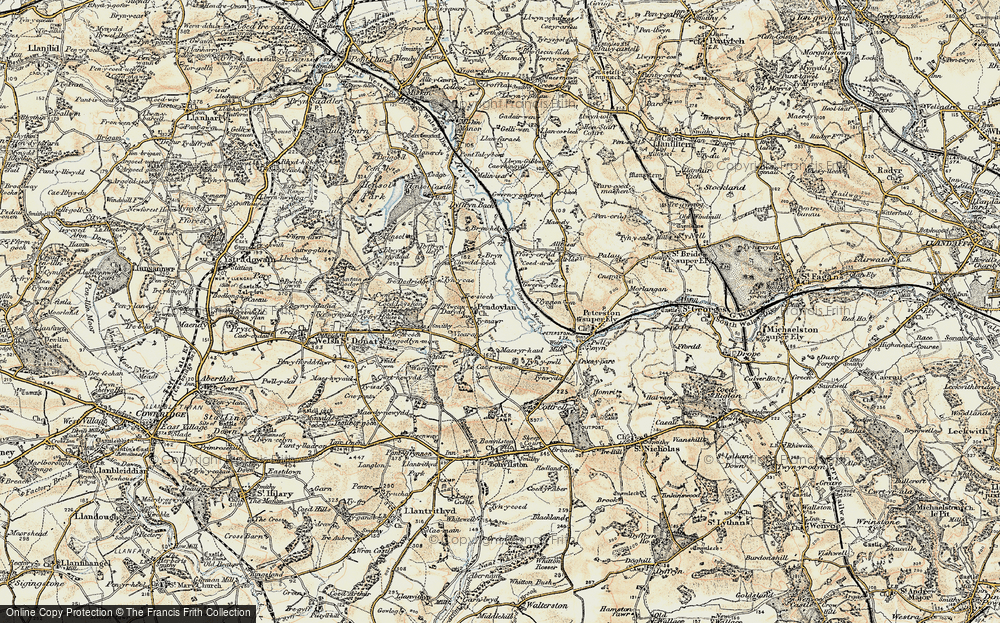 Old Map of Historic Map covering Allt Isaf in 1899-1900
