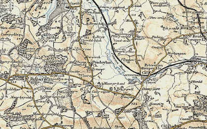 Old map of Allt Laes in 1899-1900