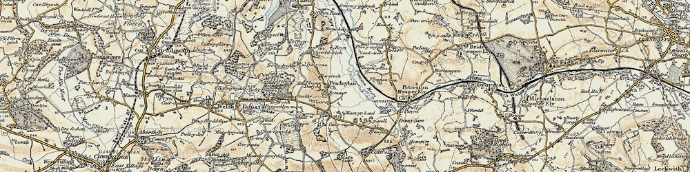 Old map of Allt Isaf in 1899-1900