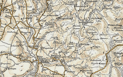 Old map of Pendrift in 1900