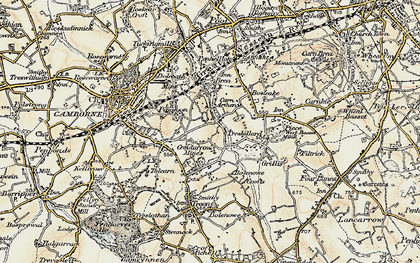 Old map of Pengegon in 1900