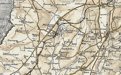 Old map of Pengelly in 1900