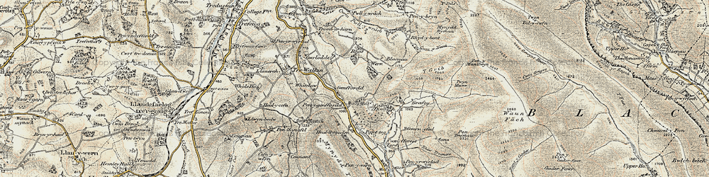 Old map of Whole Ho in 1900-1901