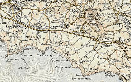 Old map of Pengersick in 1900