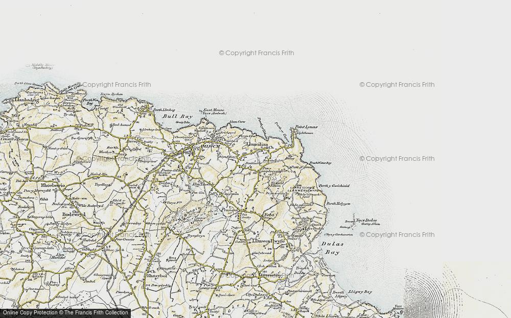 Old Map of Pengorffwysfa, 1903-1910 in 1903-1910