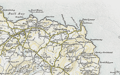 Old map of Pengorffwysfa in 1903-1910