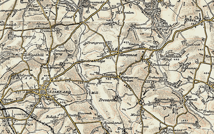 Old map of Pengover Green in 1900