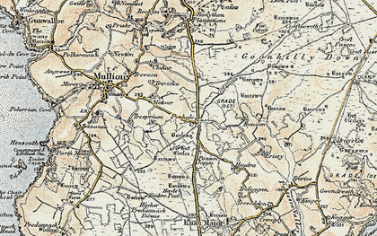 Old map of Penhale in 1900