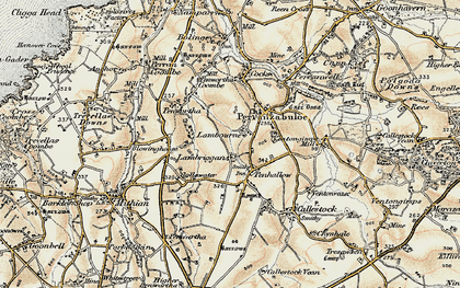 Old map of Penhallow in 1900