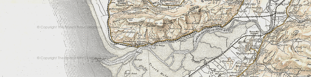 Old map of Aber-Tafol in 1902-1903
