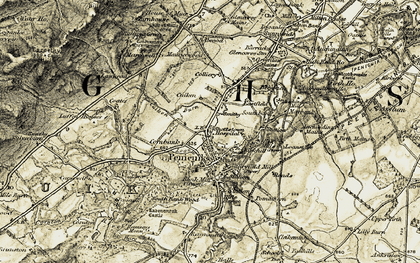 Old map of Penicuik in 1903-1904