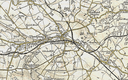 Old map of Penistone in 1903