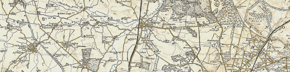 Old map of Penkridge in 1902