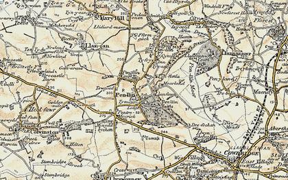 Old map of Penllyn in 1899-1900