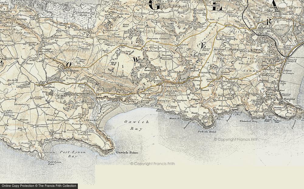 Old Map of Penmaen, 1900-1901 in 1900-1901