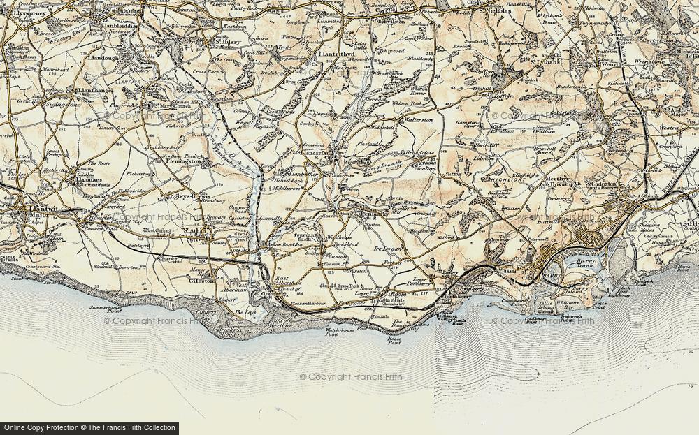 Old Map of Penmark, 1899-1900 in 1899-1900