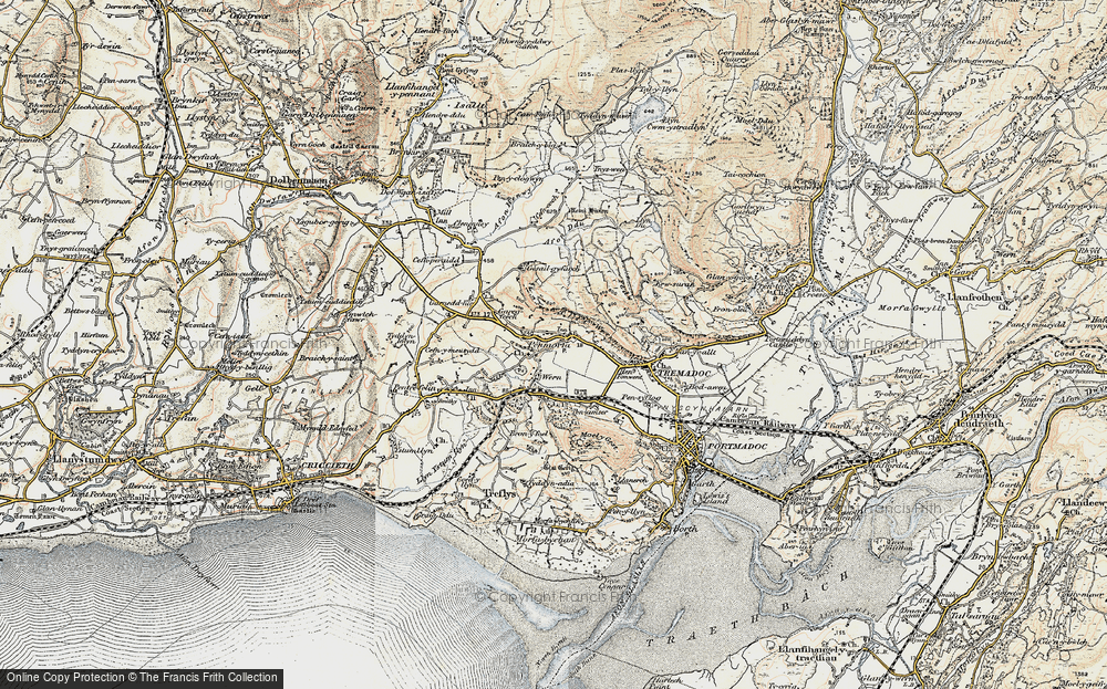 Old Map of Historic Map covering Y Fedw in 1903