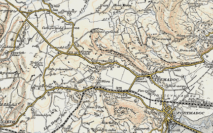 Old map of Allt-wen in 1903