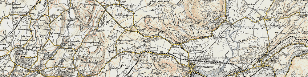Old map of Y Fedw in 1903