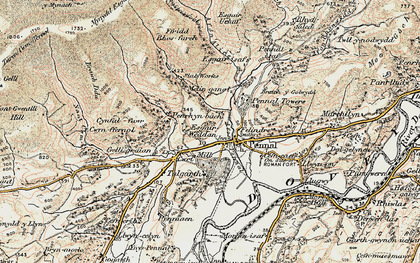 Old map of Afon Alice in 1902-1903