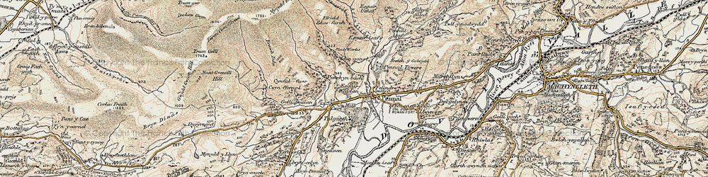 Old map of Pennal in 1902-1903