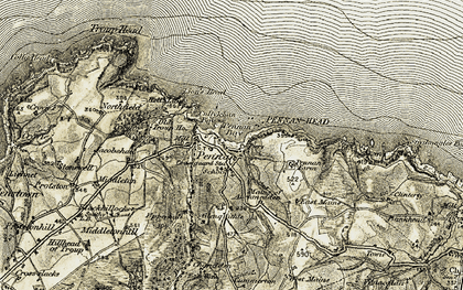 Old map of Lion's Head in 1909-1910