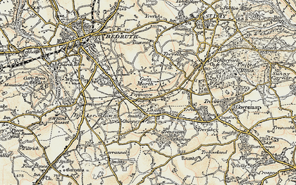 Old map of Pennance in 1900