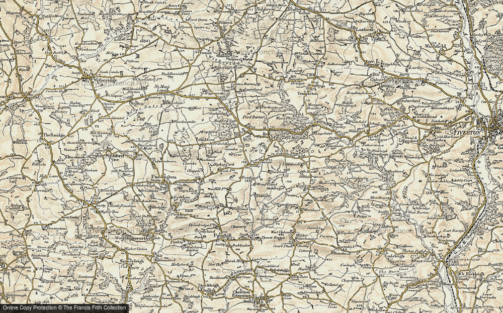 Old Map of Historic Map covering Ash in 1899-1900