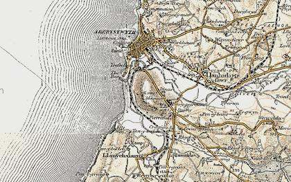 Old map of Penparcau in 1901-1903