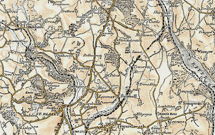 Old map of Penpillick in 1900