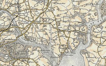 Old map of Penpol in 1900
