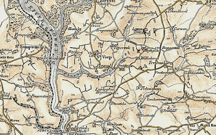 Old map of Penpoll in 1900