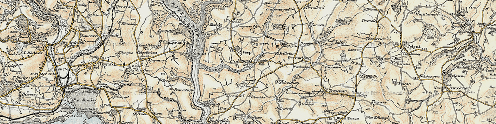 Old map of Willsland in 1900