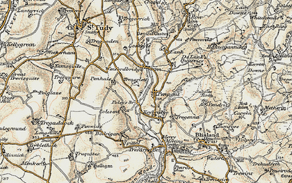 Old map of Penpont in 1900